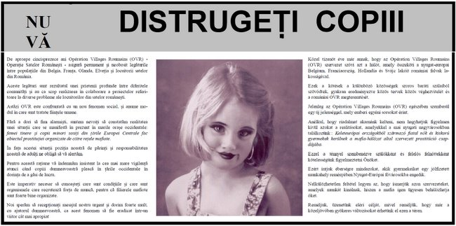 Fillette risquant la prostitution